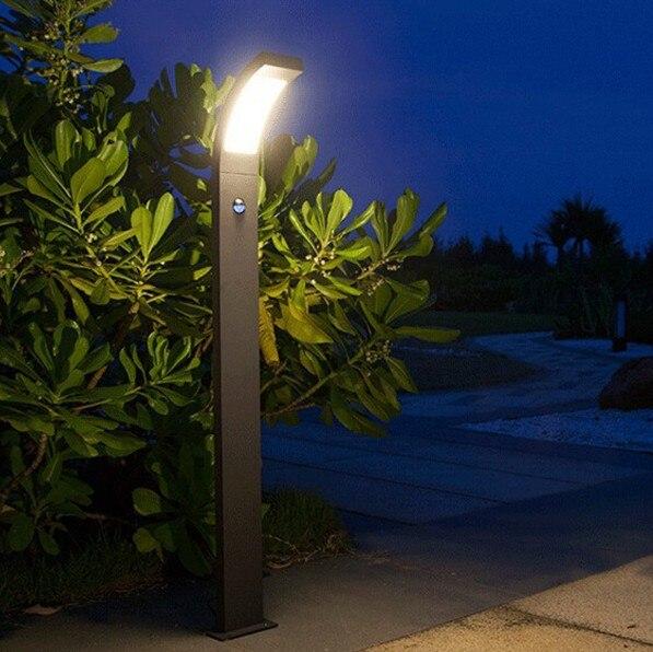 Outdoor Garden Lamp 6w Led light with PIR sensor IP54 high pole lighting fixture недорго, оригинальная цена