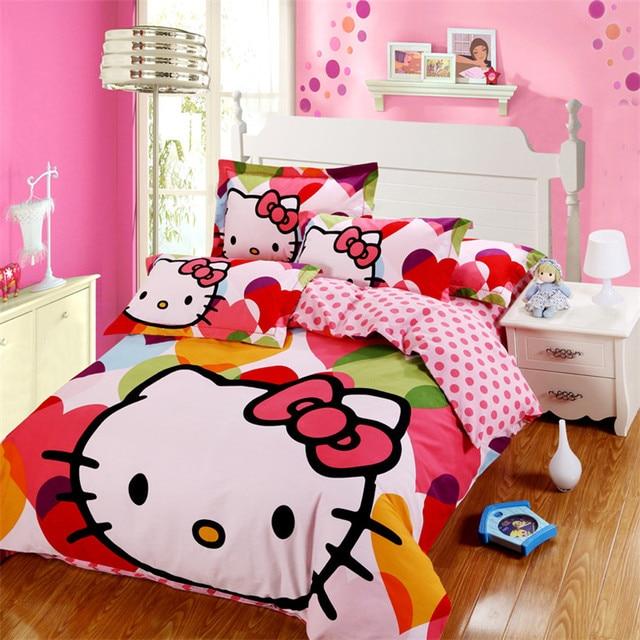 Charmant Kids Cartoon Bed Set Hellokitty Bedding Set Mickey Leopard DogCotton  Bedsheets Twinqueen Size Bet Sheet Duvet