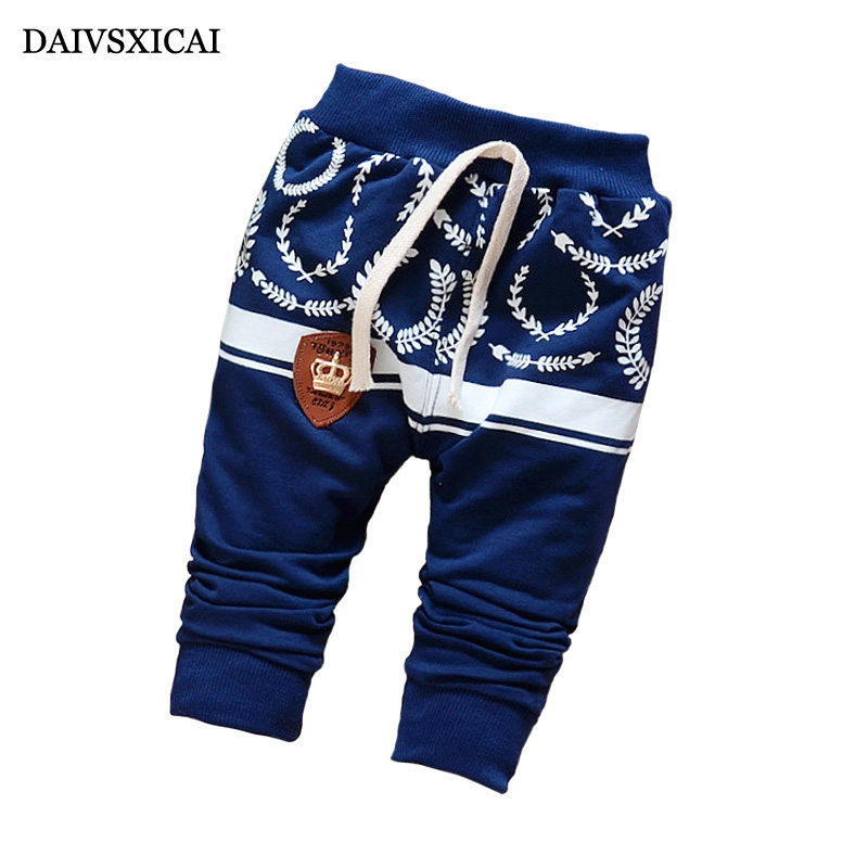 Daivsxicai Cotton Boy Pants Fashion Cute Printing Baby Clothing Pants Girl Brand All-Match Children's Pants Boys 7-24 Month