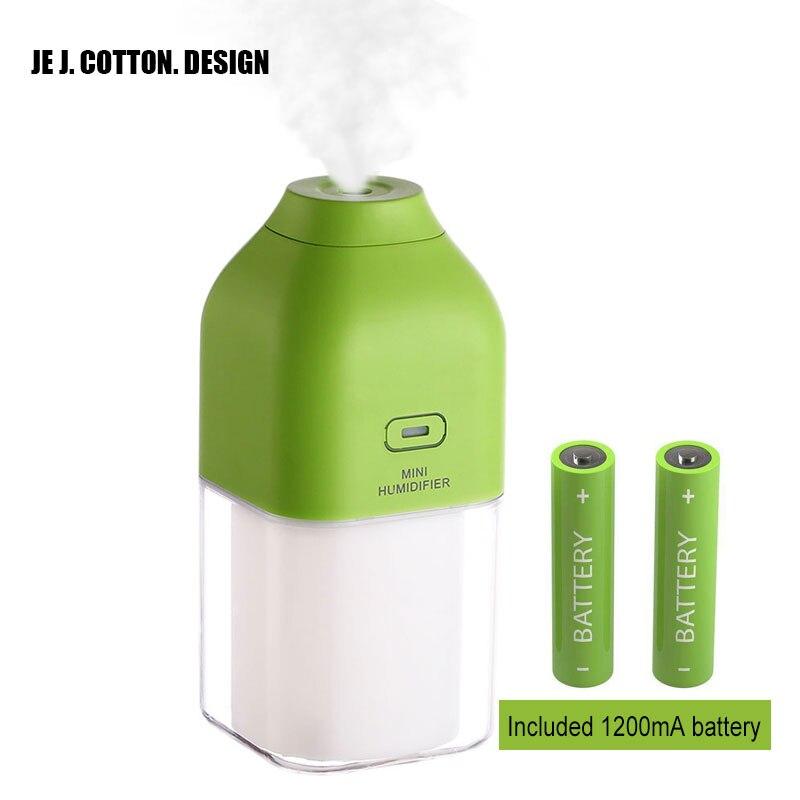 1200MA Перезаряжаемые ультразвуковой увлажнитель воздуха для дома автомобиля аромат эфирного масла диффузор тумана, Fogger с светодиодный ночни...
