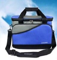 19L Large capacity food grade Thicken Folding Fresh Cooler Bag Lunch Bag Fruit Seafood Steak Insulation Thermal Bag Ice Packs