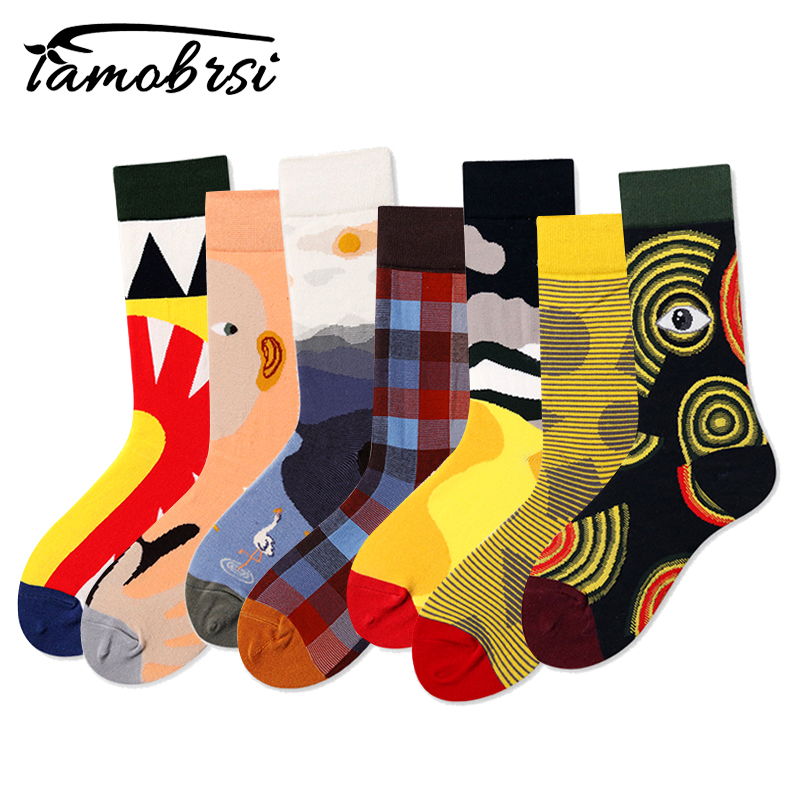 Fashion Brand Happy Skateboard Sock Hip Hop Crazy Short Skate Cotton Funny Men Women Novelty Street Style Thermal Creative Socks