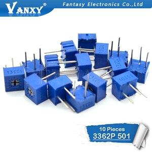 10 шт. 3362P-1-501LF 3362 P 500 Ом 3362P-1-501 3362P-501 3362 P501 501 Trimpot, триммер, потенциометр, переменный резистор