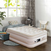Inflatable Quilt Top Raised Upgraded Luxury Airbed Modern High Quality Square Soft Beds Bedrooms Furniture HW58938US(China)