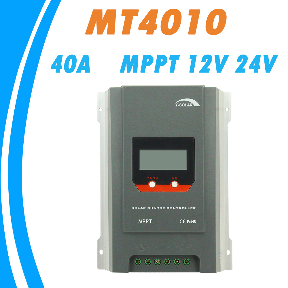 Y-SOLAR MPPT 40A Solar Charge Controller 12V 24V Auto LCD Max 100V Input Solar Regulator High Efficiency Four Stage Charging EMC mppt 40a 4210a solar charge controller 12v 24v automatic conversion lcd display max 100v regulator pc communication mobile