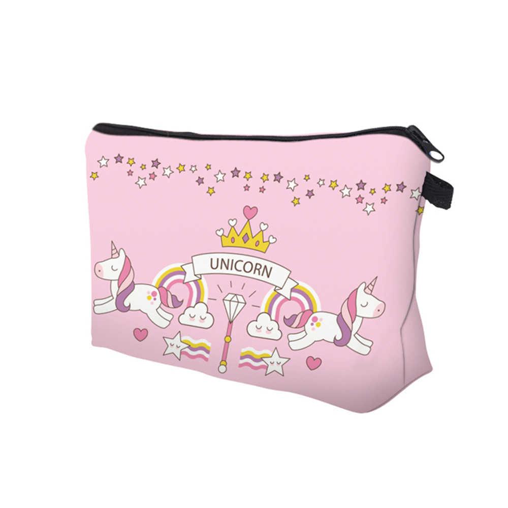 Deanfun 2Pc różowe torby ze sznurkiem jednorożca 3D drukowane dla dziewcząt do przechowywania w szkole