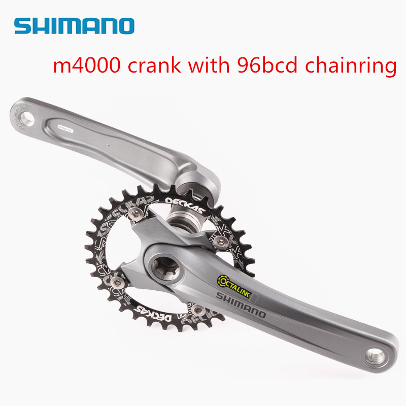 Ingenious Shimano Alivio M4000 Crank With Deckas 96bbcd 10/11 Speed Bike Bicycle Chainring Sports & Entertainment Bicycle Parts