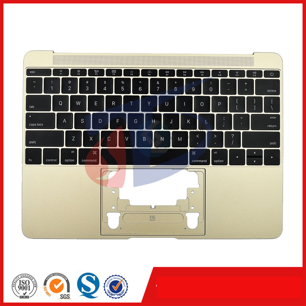 2016year gold original for macbook 12inch retina A1534 keyboard topcase topcover Palm Rest without touchpad original used a1534 12 palm rest 2016 year for macbook air retina grey a1534 palmrest top case topcase us keyboard replacement
