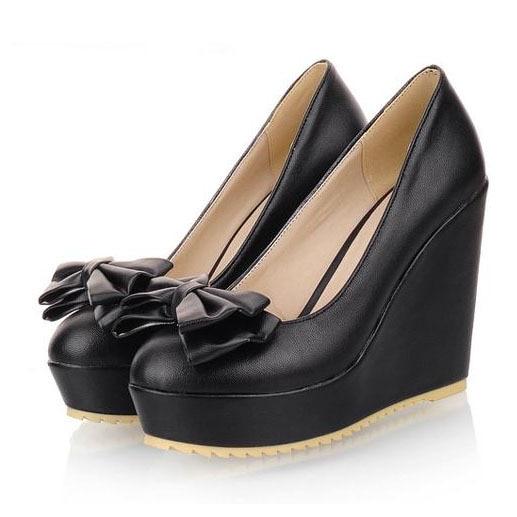 Elegant Leather Platform Sandals Women39s Shoes Women39s Open Toe Wedges Sandal