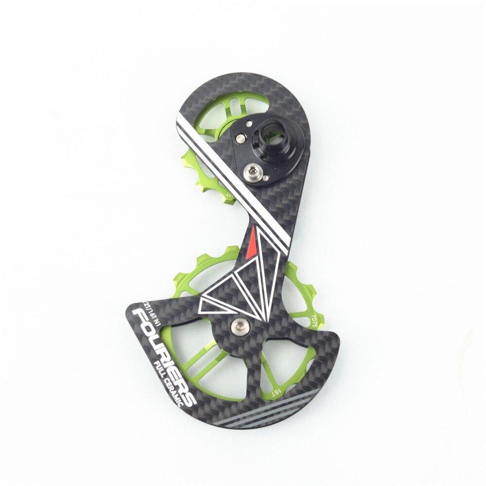 FOURIERS CT-DX007 KIT de rouleau de vélo de route avec dérailleur arrière complet en céramique 9000/9070/6800/6870