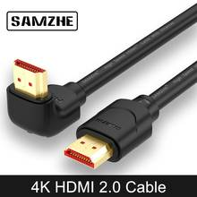 SAMZHE 4K HDMI 2.0 Cable 90/270 Degree Angle HDMI to HDMI Cable 2K*4K 1M 1.5M 2M 3M 5M 1080P 3D for TV PC Projector PS3 PS4(China)