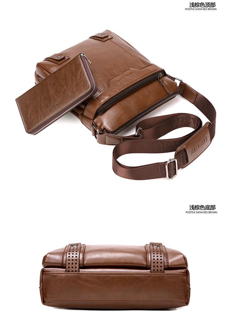 de Couro Do Vintage Saco Crossbody Bolsas Homens WBS505-2