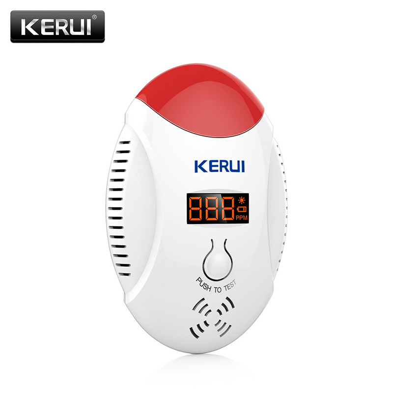 KERUI New Wireless LED Digital Display CO Detector 85dB Voice Strobe Home Security Safety Carbon Dioxide Detector Alarm Battery