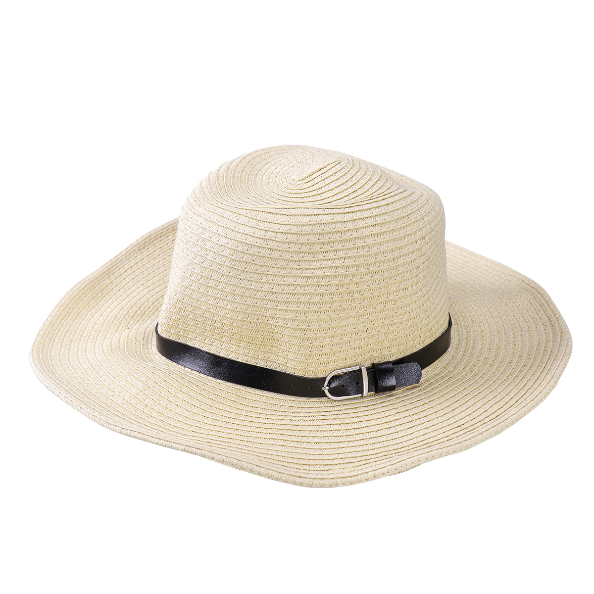 TINKSKY Men Wide Brim Hat Summer Beach Straw Cap Sun Floppy Foldable Hats for Adults (Beige)