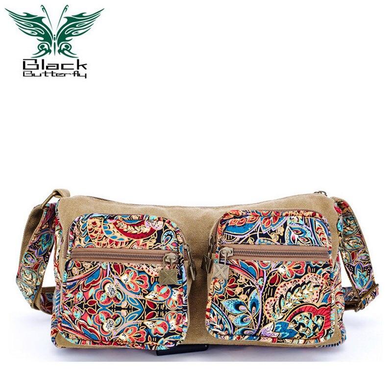 ФОТО Fashion canvas shoulder bags women handbag national vintage Women messenger bag front pocket crossbody bags