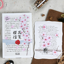 30 pcs/lot  cherry blossom letters Greeting Card Postcard Birthday greeting card Letter Envelope Gift Set Message