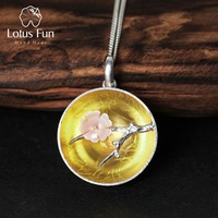 Lotus Fun Real 925 Sterling Silver Natural Shell Handmade Fine Jewelry The Aroma Of Wintersweet Pendant