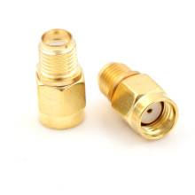 2 Pieces RP SMA Female to Male Plug Connector Adapter Goldplated Straight RF