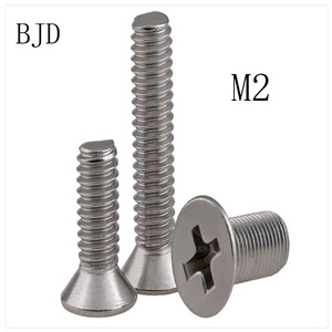 100pcs GB819 M2 bolts Stainless steel Special promotion 304 stainless steel screws cross head machine screws countersunk bolts
