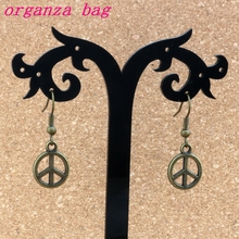 Peace Charm Earrings Fish Ear Hook 30pairs/lot Antique bronze Chandelier Jewelry 12.5x33mm A-330e