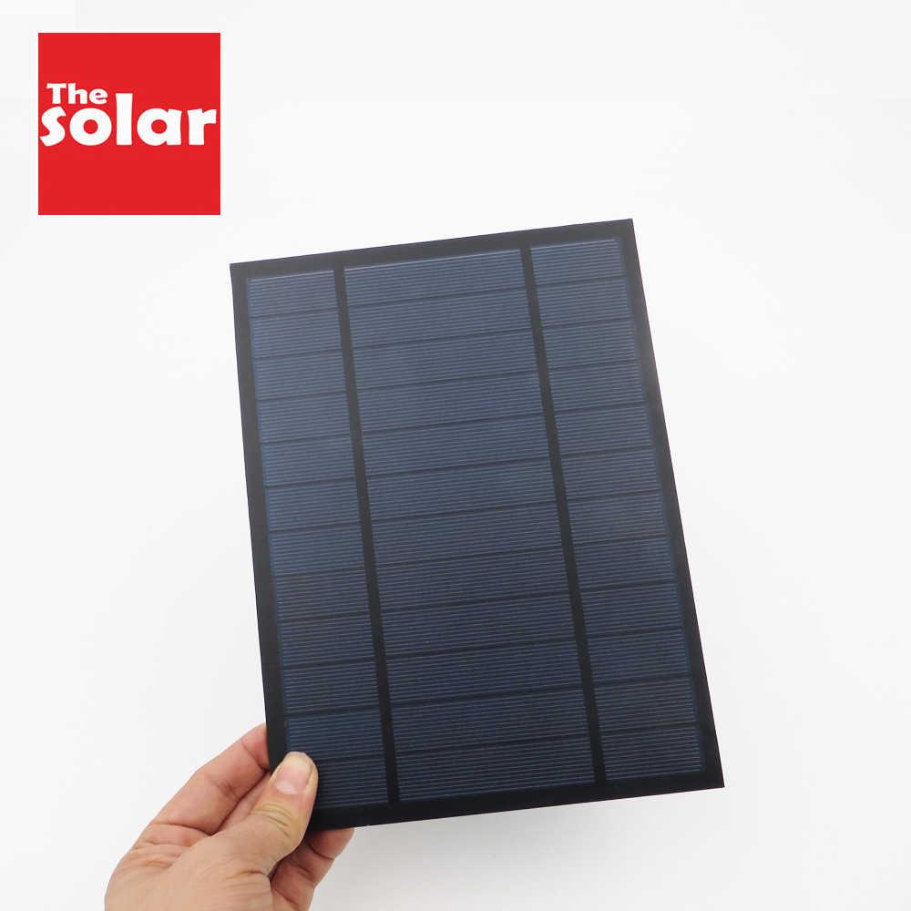 6VDC 1000mA 6 ワット 6 ワットソーラーパネル標準エポキシ多結晶シリコン Diy バッテリー電源充電モジュールミニ太陽電池おもちゃ