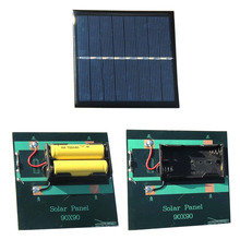 Portable Solar Panel 1W 4V Rechargeable 2*AA 1.2V Mini Solar System DIY Power Bank Charger For Battery Cell Phone Chargers portable large capacity garden solar power bank panel 2 led lamp male female usb cable battery charger emergency lighting system