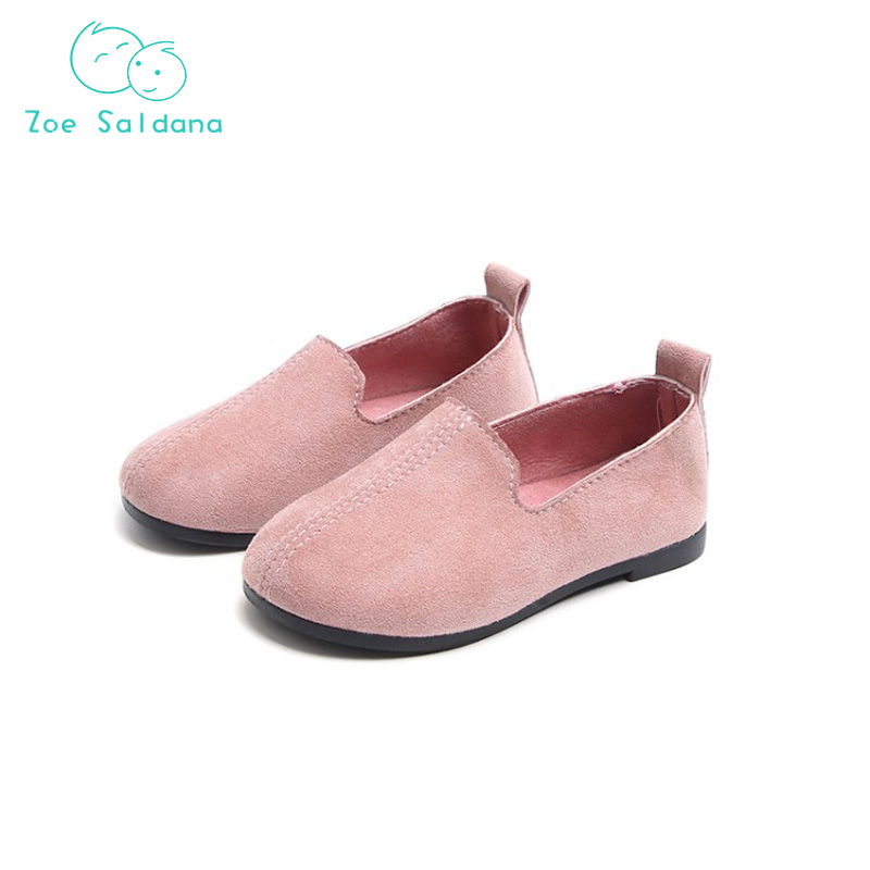 Zoe Saldana 2018 Baby Girls Hot Sale Solid Nubuck Leather Breathable Shoes Infant Princess Slip On Casual For Children