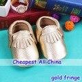 2016 Cuero Genuino de la Vaca suave zapatos del bebé Primeros Caminante Del Niño del bebé mocasines antideslizantes Para bebé Zapatos marginales envío gratis