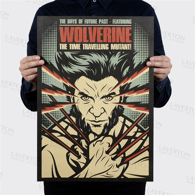 X Men: Days of Future Past/film Wolverine/kraft paper/bar poster ...