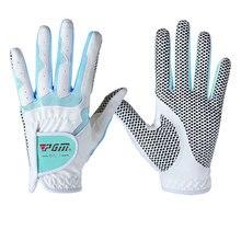1 Pair Left and Right Hand Golf Gloves for Women Full Fingers Microfiber Sports Durable Non-Slip Breathable D0015