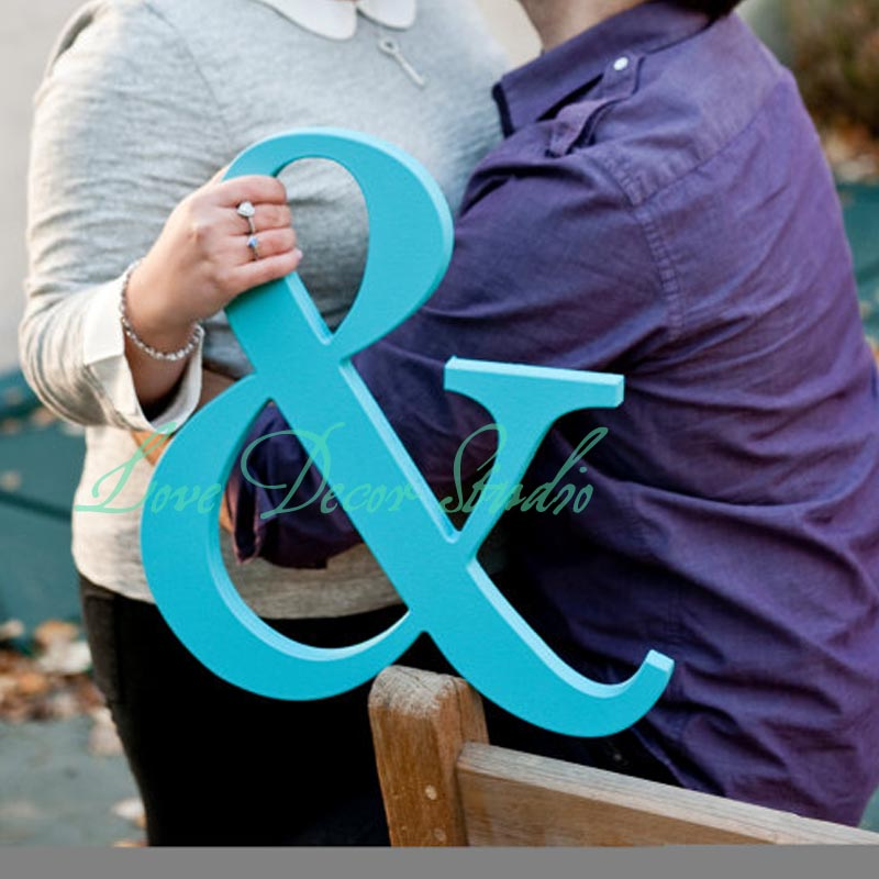free shipping Ampersand Sign - 15 Inch Tall Ampersand Sign Photo Prop pvc Engagement, Wedding, or Maternity Sign - Wedding Sign