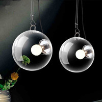 Modern Soap Bubble Pendant Lights Creative Fashion Home Decoration Lighting Clear Glass Pendant Lamps E27 Bulbs
