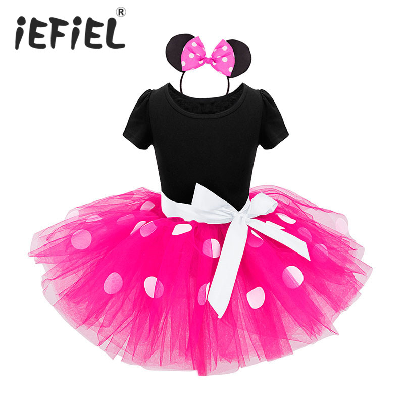 Christmas Dress Baby Girls Birthday Gift Minnie Mouse