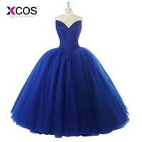Sweetheart Beads Bodice Ruffles Blue Long Quinceanera Dress Long Formal Ball Gown Sweet 16 Dresses Custom