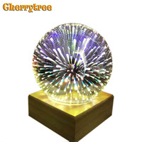 Table lamp bed lamp Magic Crystal Glass 3D Colorful USB christmas gift bedside bedroom night light deco table for living room