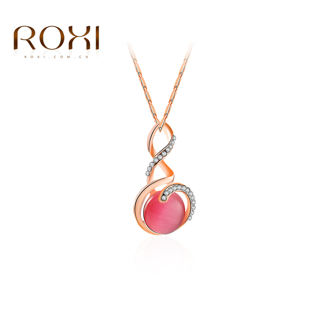 ROXI New Fashion Women Elegant Pendent Necklace Luxury Rose Gold
