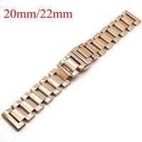 20mm/22mm Uhrenarmband Massiv Edelstahl Goldene Armband Armband Für Männer Frauen Uhren relogio masculino Hohe qualität Ersetzen