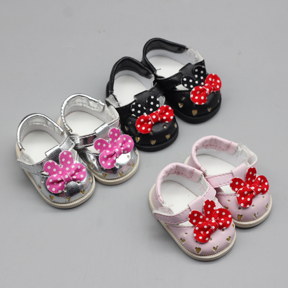 1pair Cute PU Shoes Suit For 16inch Sharon BJD Doll Cartoon Boots Shoes Best Gift Accessories Toys