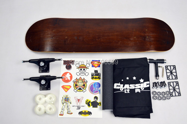 Free Shipping High Quality Skate Board Double Rocker Maple Wood Nice Layers 306 Professional Grade