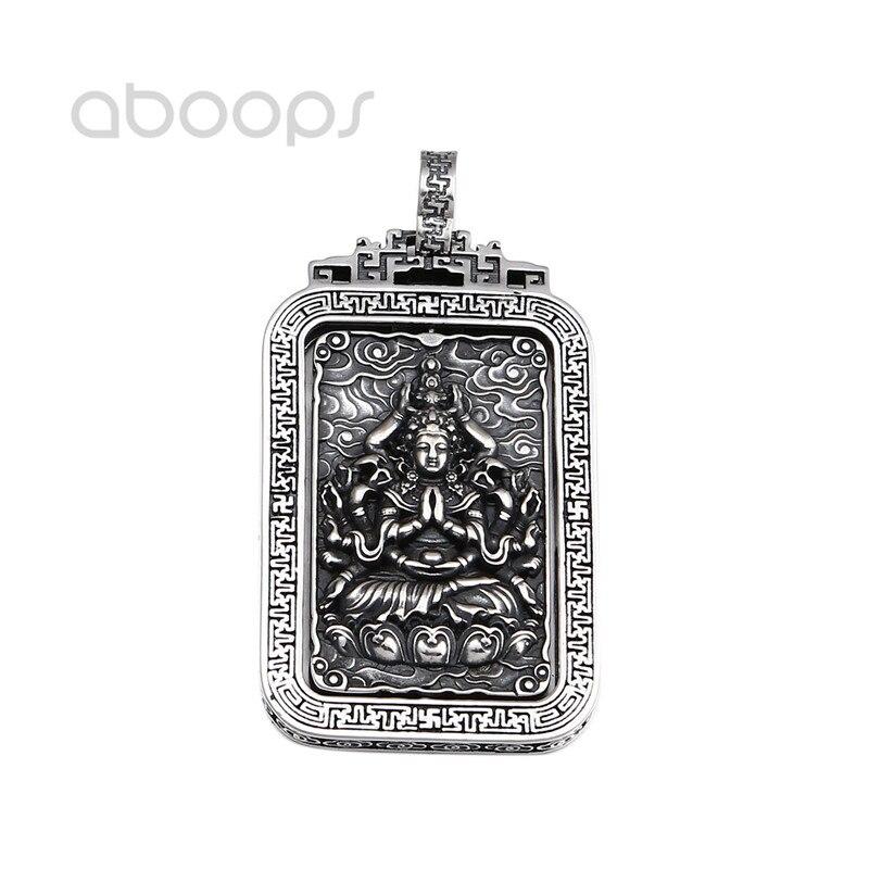 Vintage 925 Sterling Silver Buddhism Buddha Amulet Spinning Pendant for Men Women Free ShippingVintage 925 Sterling Silver Buddhism Buddha Amulet Spinning Pendant for Men Women Free Shipping