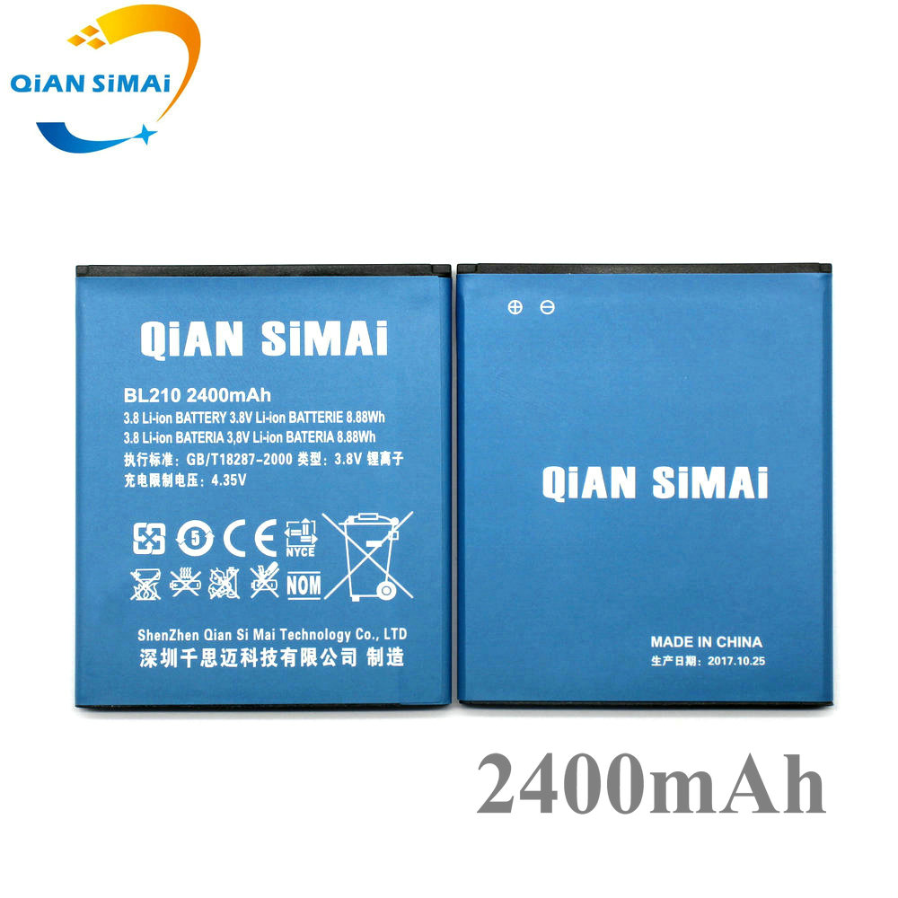 QiAN SiMAi 2017 New 2400mAh A606 Battery 100% New High Quality BL210 Battery For Lenovo A536 Mobile Phone- In Stock