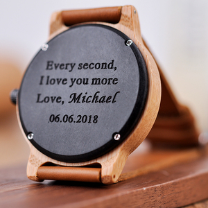 Image 4 - Engraved Wood Watches for Men Women Anniversary Lovers Engagement Gift Personalized Watch for Father Gift for Son