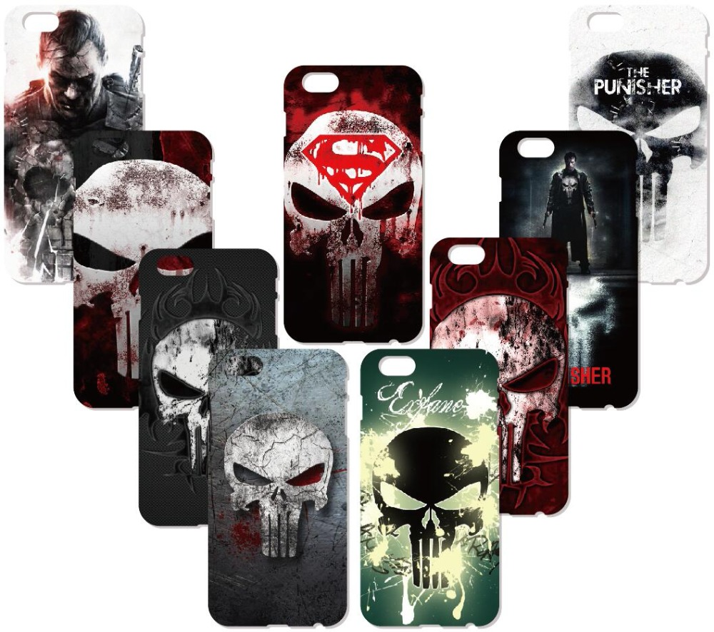 The Punisher Logo Case For Samsung Galaxy S9 Plus E5 E7 i9082 S5 S6 S7 Edge Note 3 4 5 Phone Cover Coque Capa Fundas Bumper
