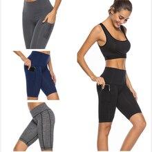 AZUE Women Short Leggings Plain Fitness Crop Leggings Summer Breathable Workout Leggings