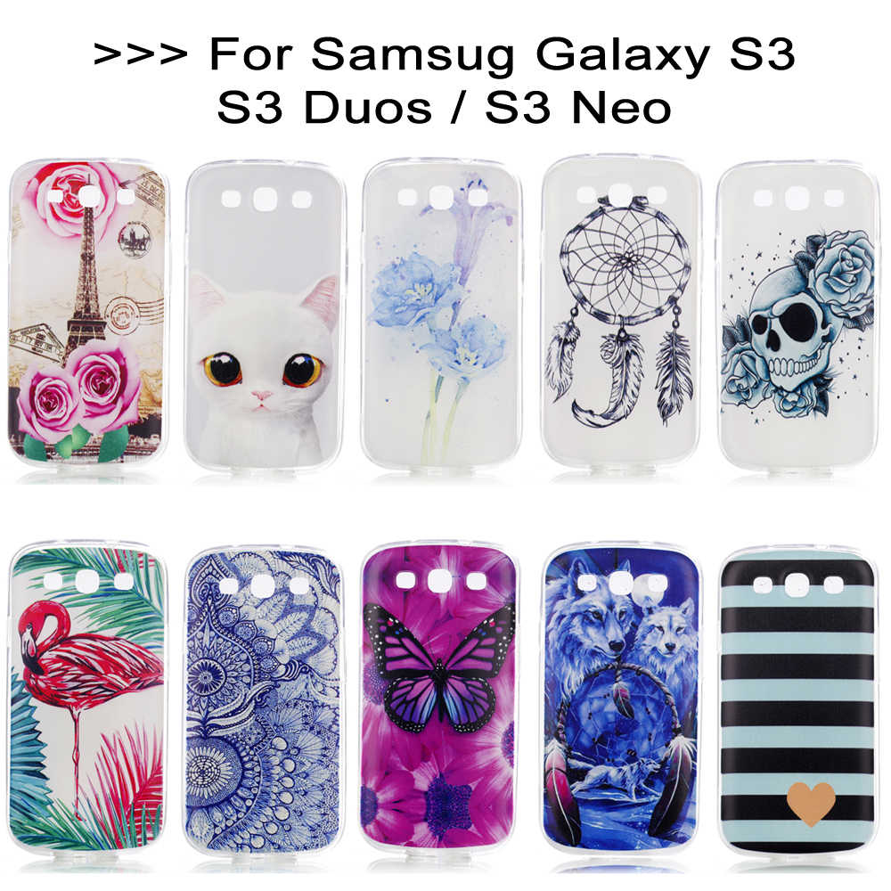 separation shoes 5fe73 60936 Case for Samsung S3 Silicone Case TPU 3D Back Cover S3 Neo Case for Samsung  Galaxy S3 Duos Neo S 3 i9300 Coque Phone Cover Funda