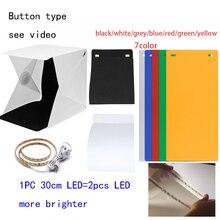 Mini Lightbox Studio Photo Photography Tent Kit LED Light with Black White Backgrond USB LED light  aluminum photo frame with led light lightbox