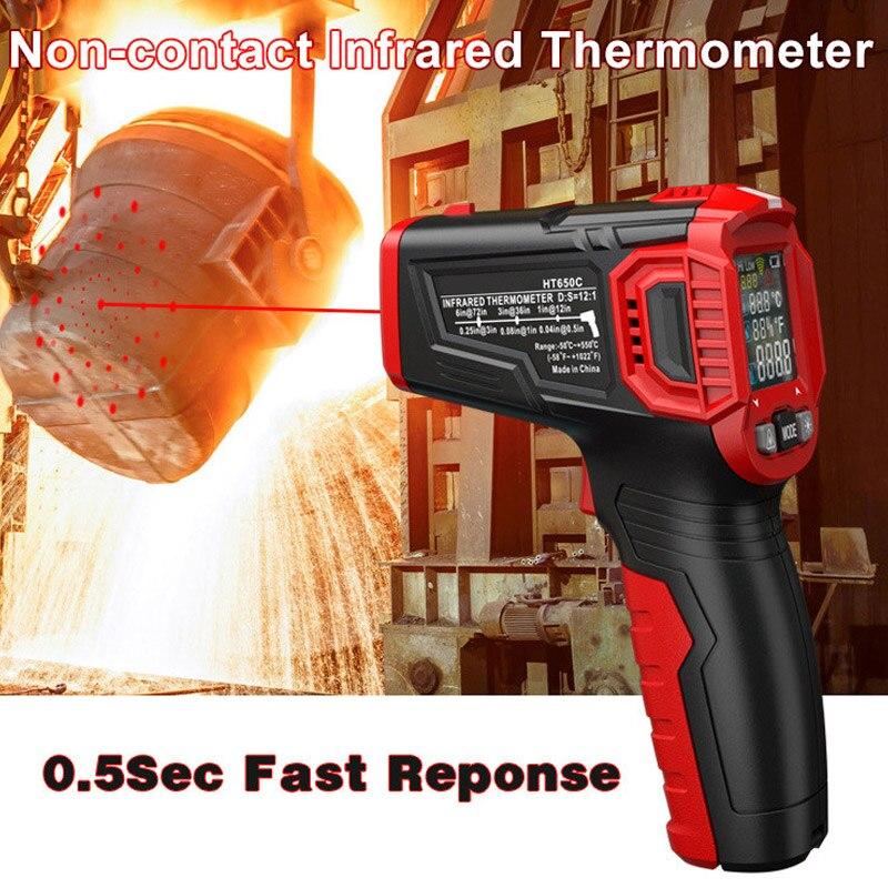 Digital Display Thermometer Humidity Meter Infrared Hygrometer Temperature Pyrometer ALI88