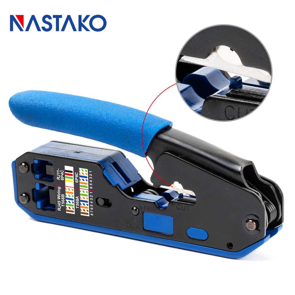 Инструмент NASTAKO RJ45, сеть обжимных инструментов rj45, щипцы для зачистки, Ethernet кабель, подходит RJ45 Cat6 Cat5e Cat5 RJ11 RJ12 разъем
