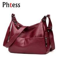 2018 Women Vintage Messenger Bags Female Leather Crossbody Shoulder Bags Sac A Main Ladies Luxury High