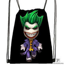 Custom Joker-batman-arkham Drawstring Backpack Bag Cute Daypack Kids Satchel (Black Back) 31x40cm#2018612-01-(13)